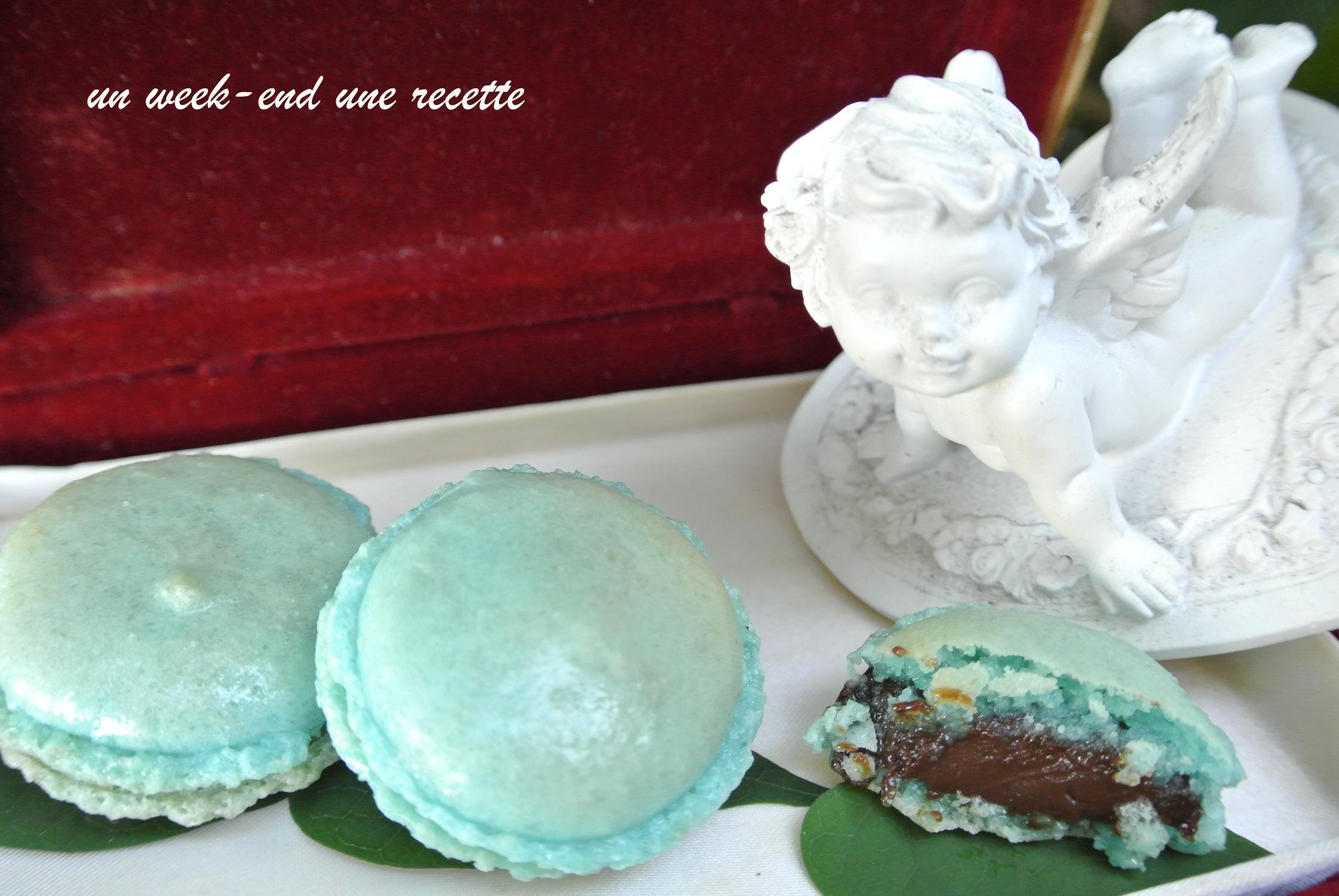 Macarons chocolat menthe