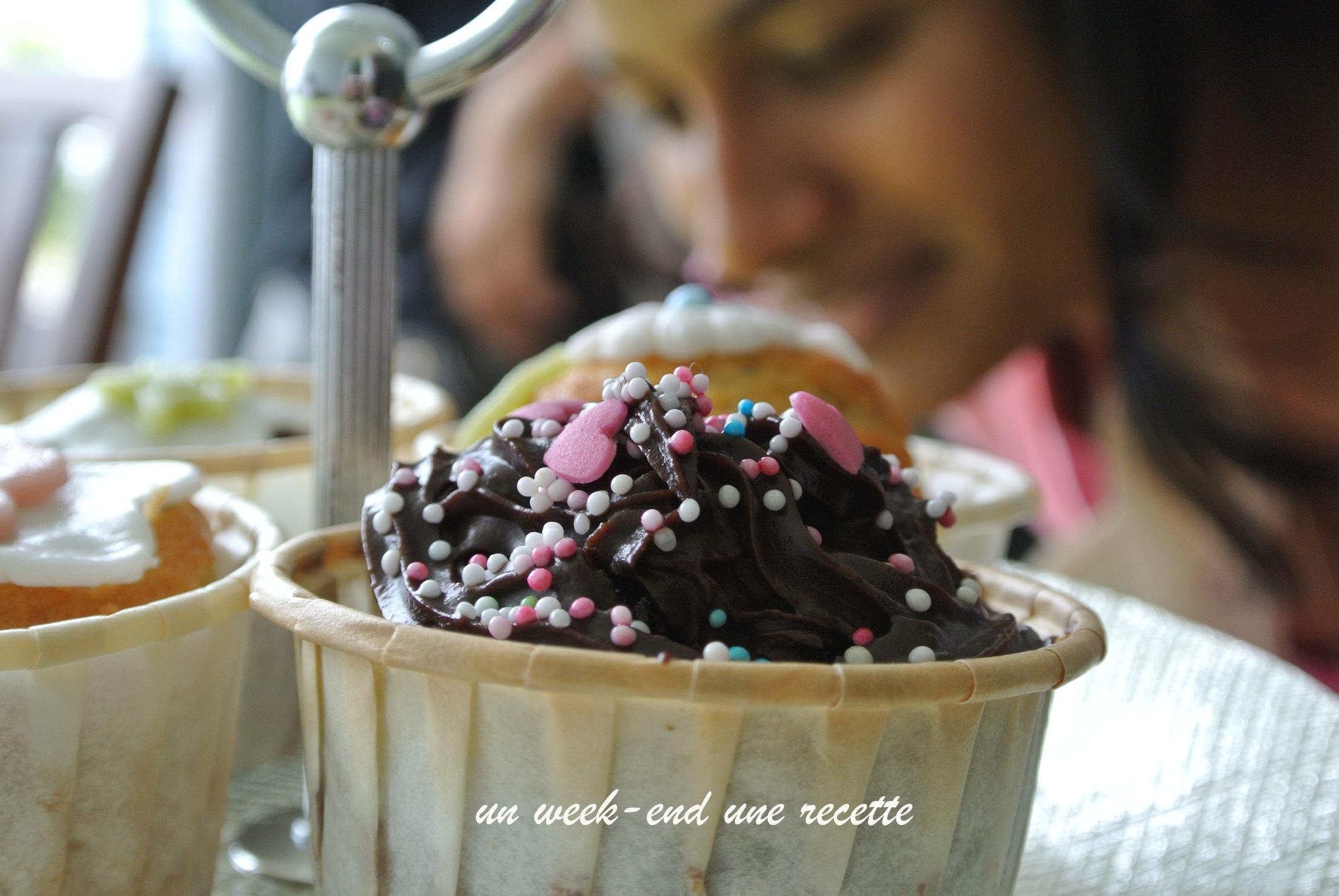 Cupcake citron-pavot et chocolat