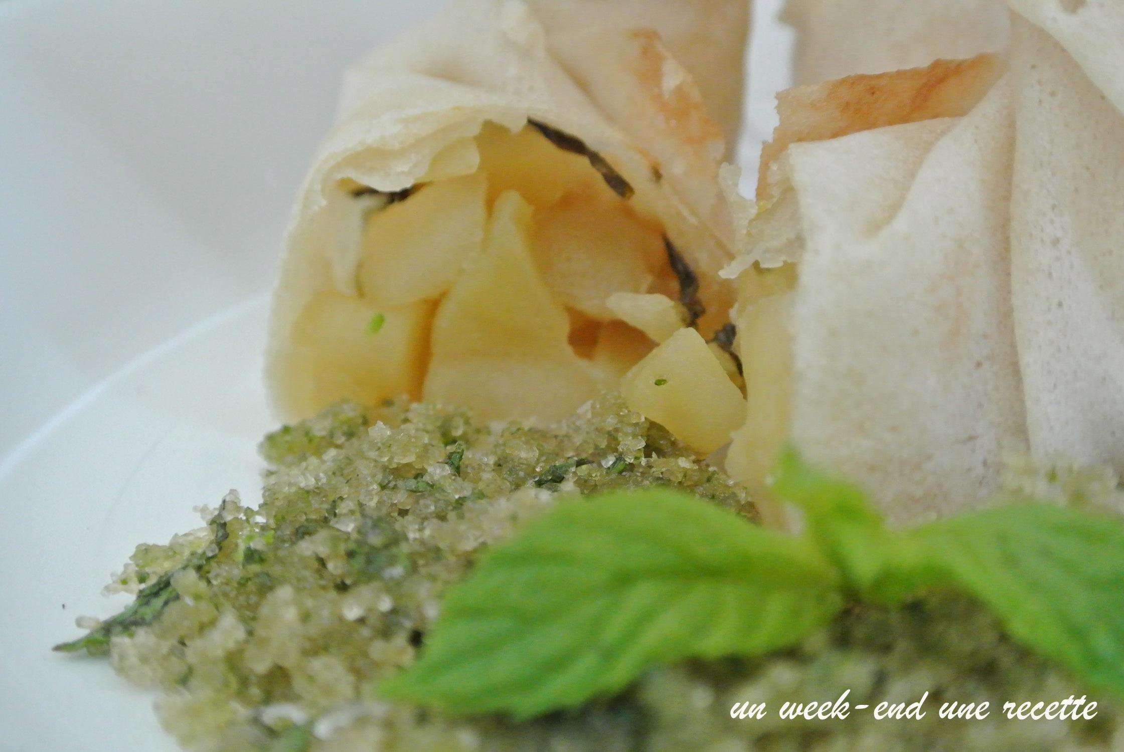 bonbon croustillant pomme menthe