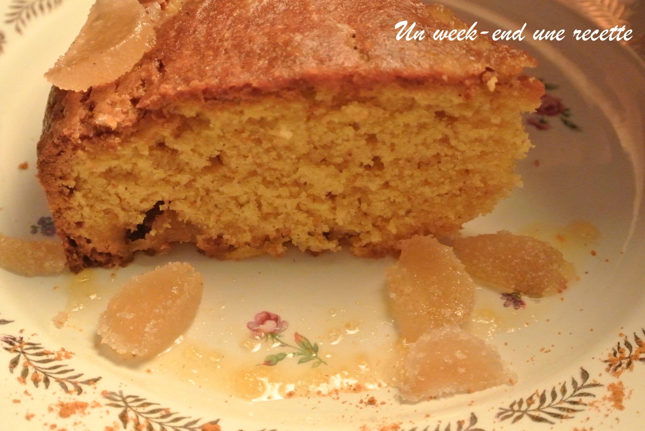 Gâteau au gingembre, curcuma-citron