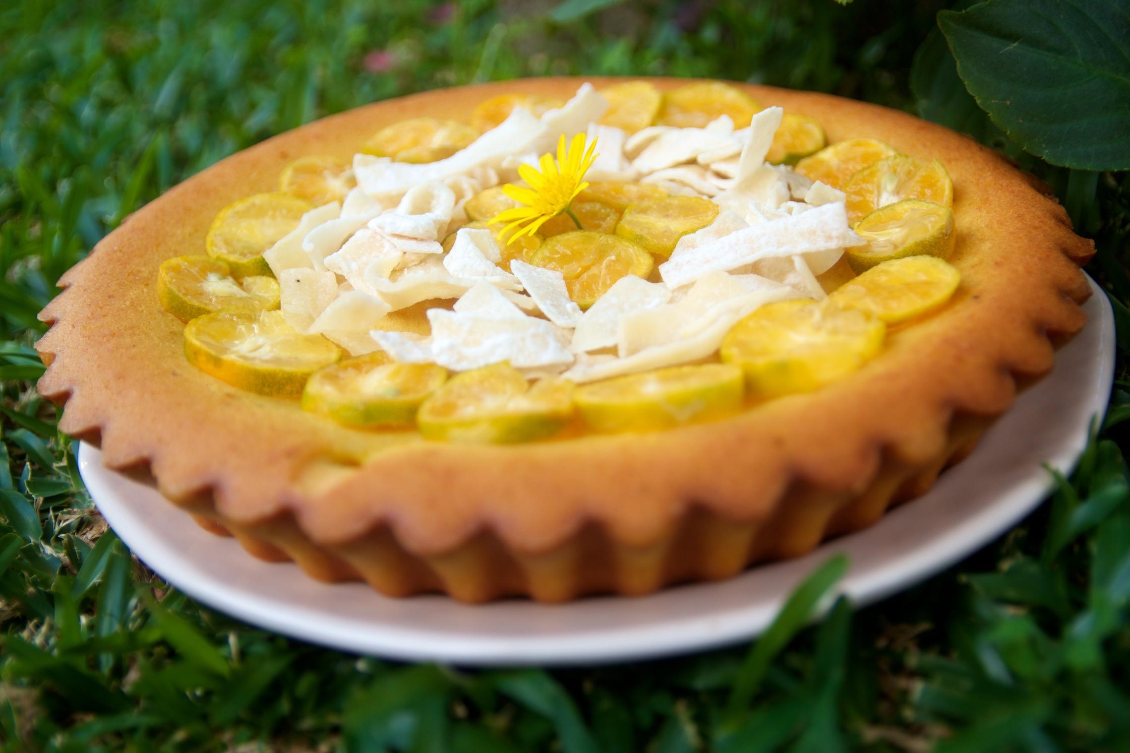 Gâteau ti son revisité crème curcuma et fleur d'oranger