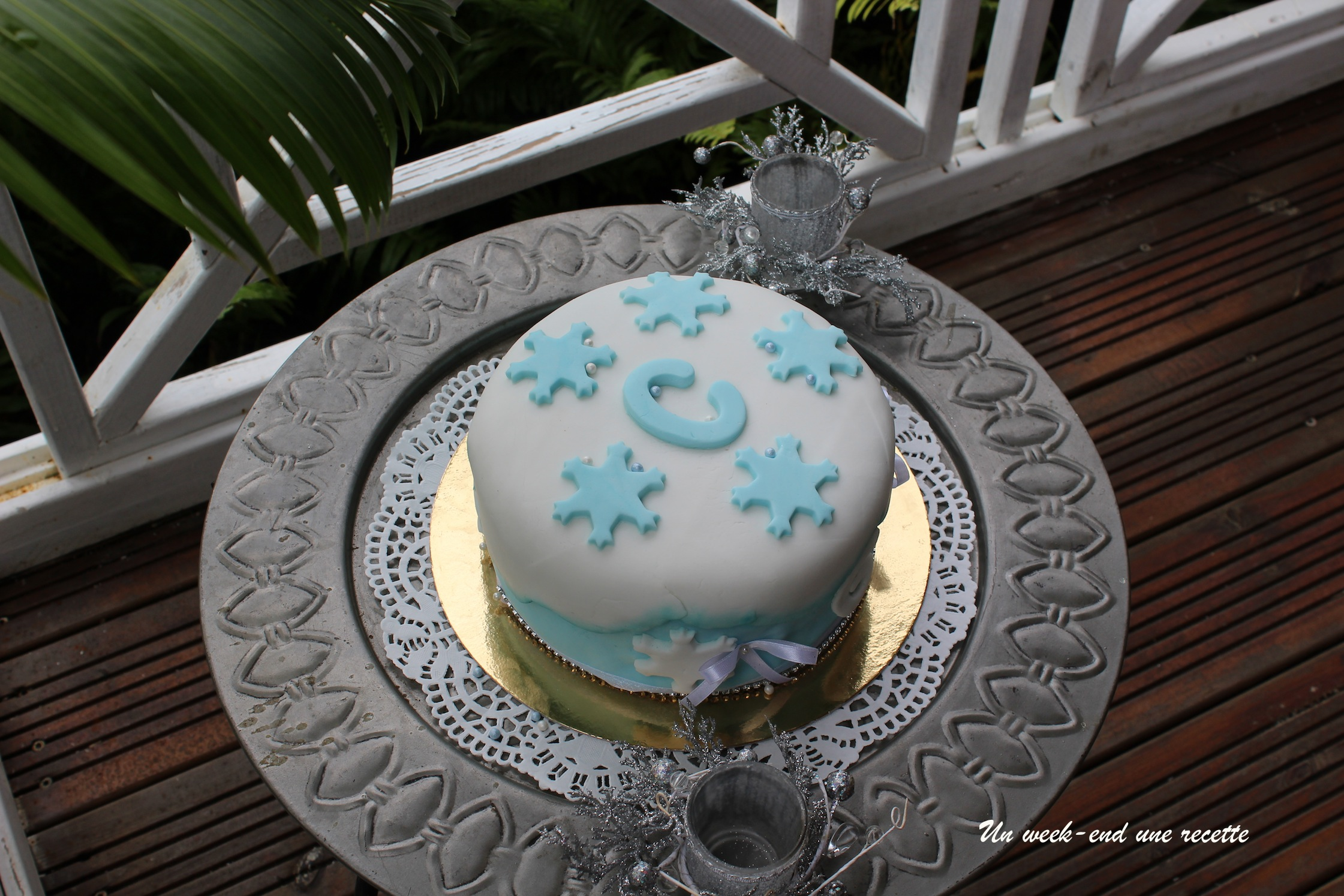 Gâteau à la noix de coco Reine des neiges