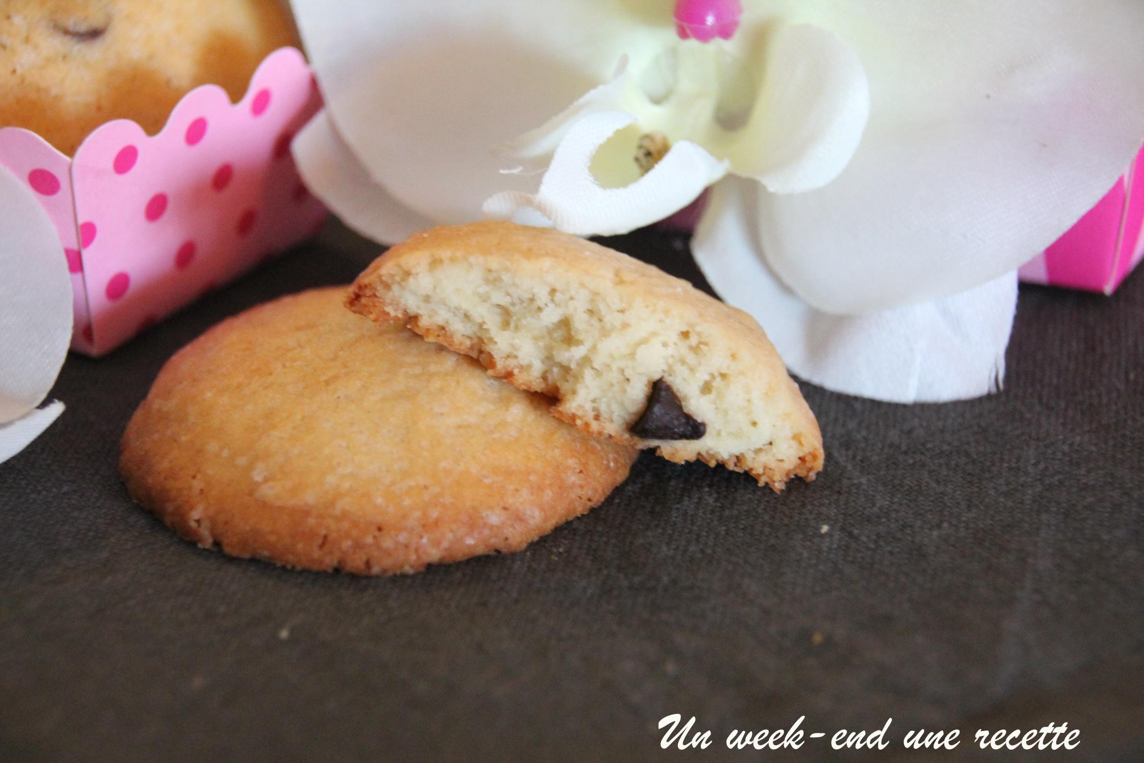 Biscuit au géranium bourbon pépites de chocolat