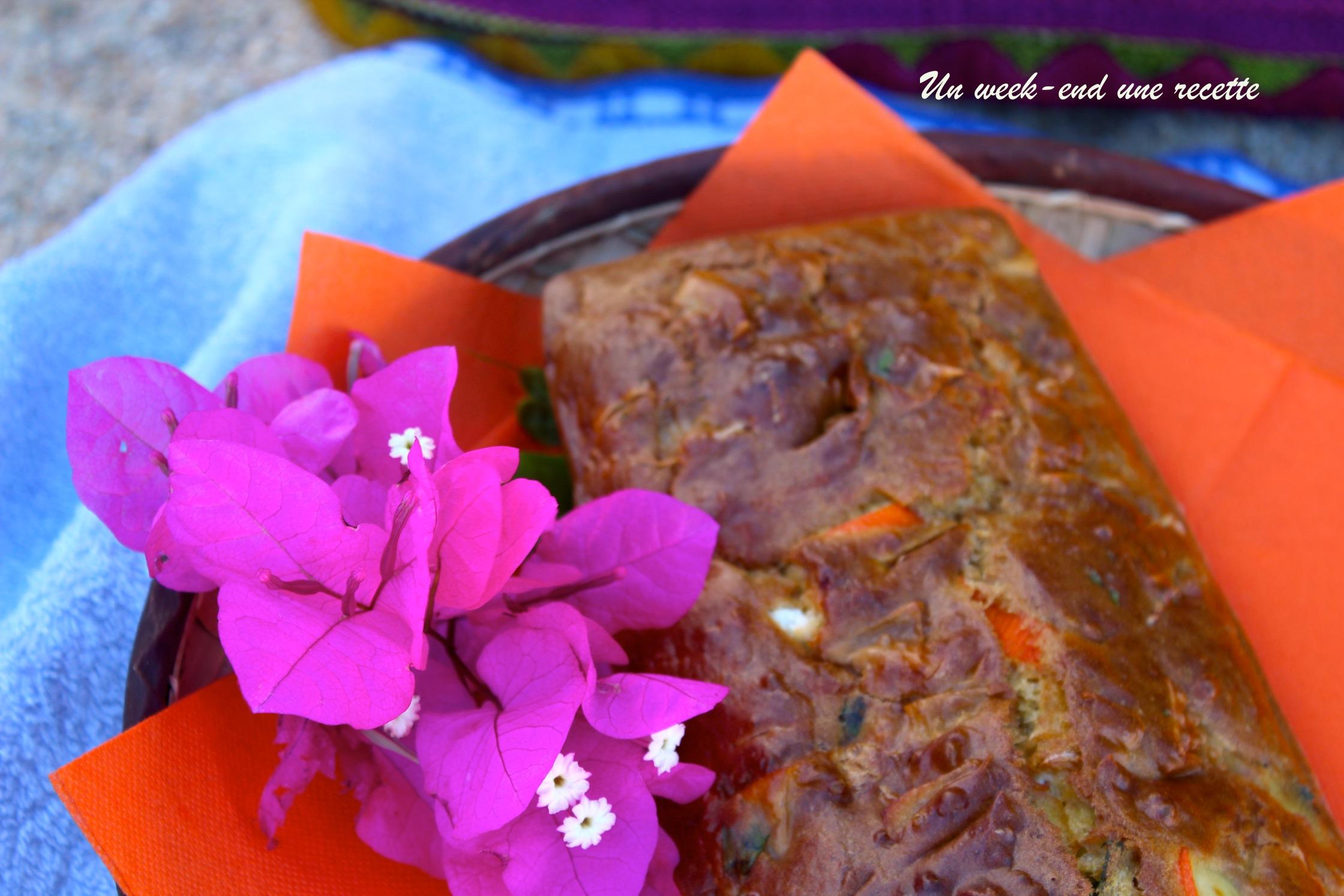 Cake pomme chèvre surimi