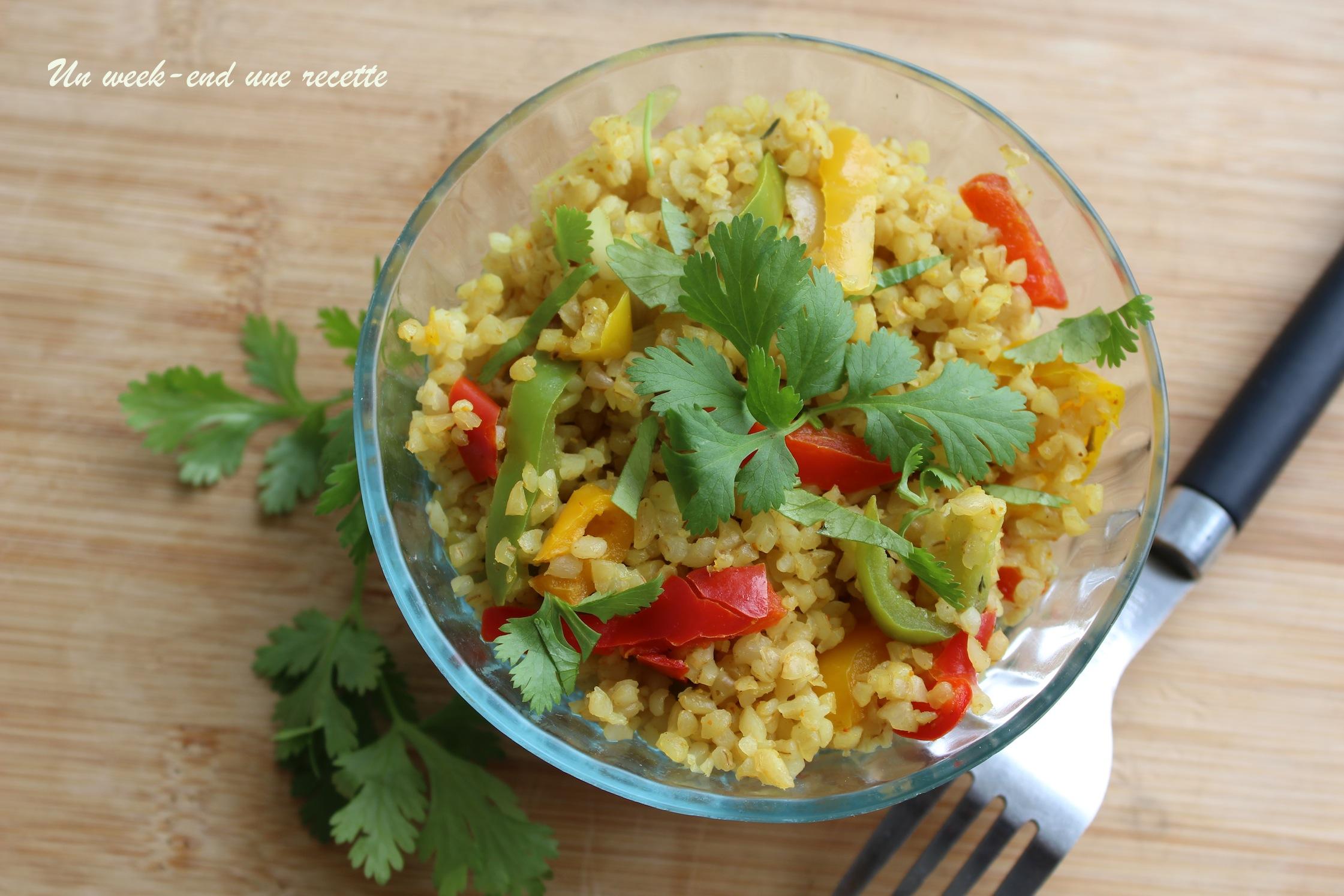 Boulgour au curry