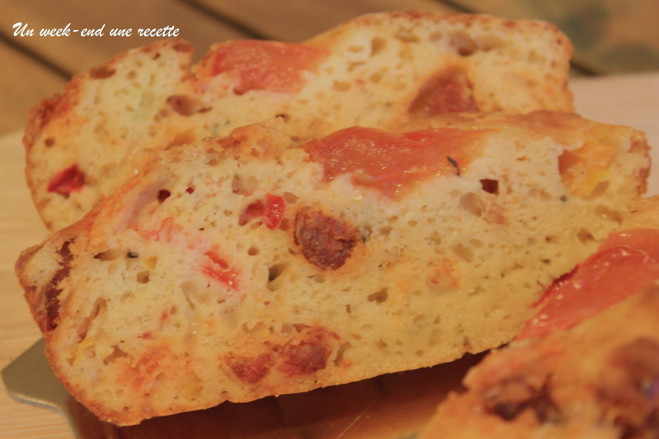 Cake chorizo aux poivrons