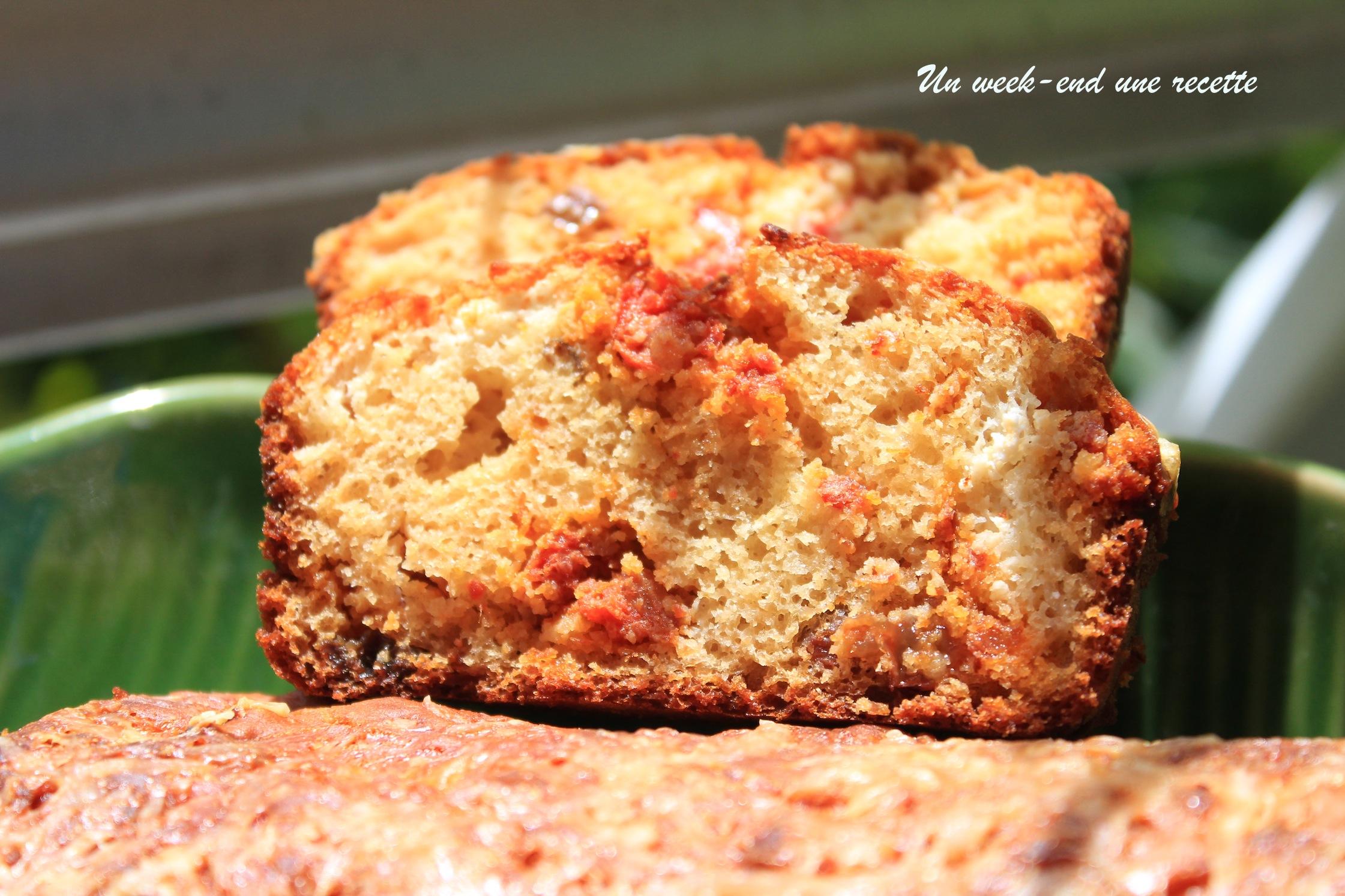 Cake chorizo chèvre