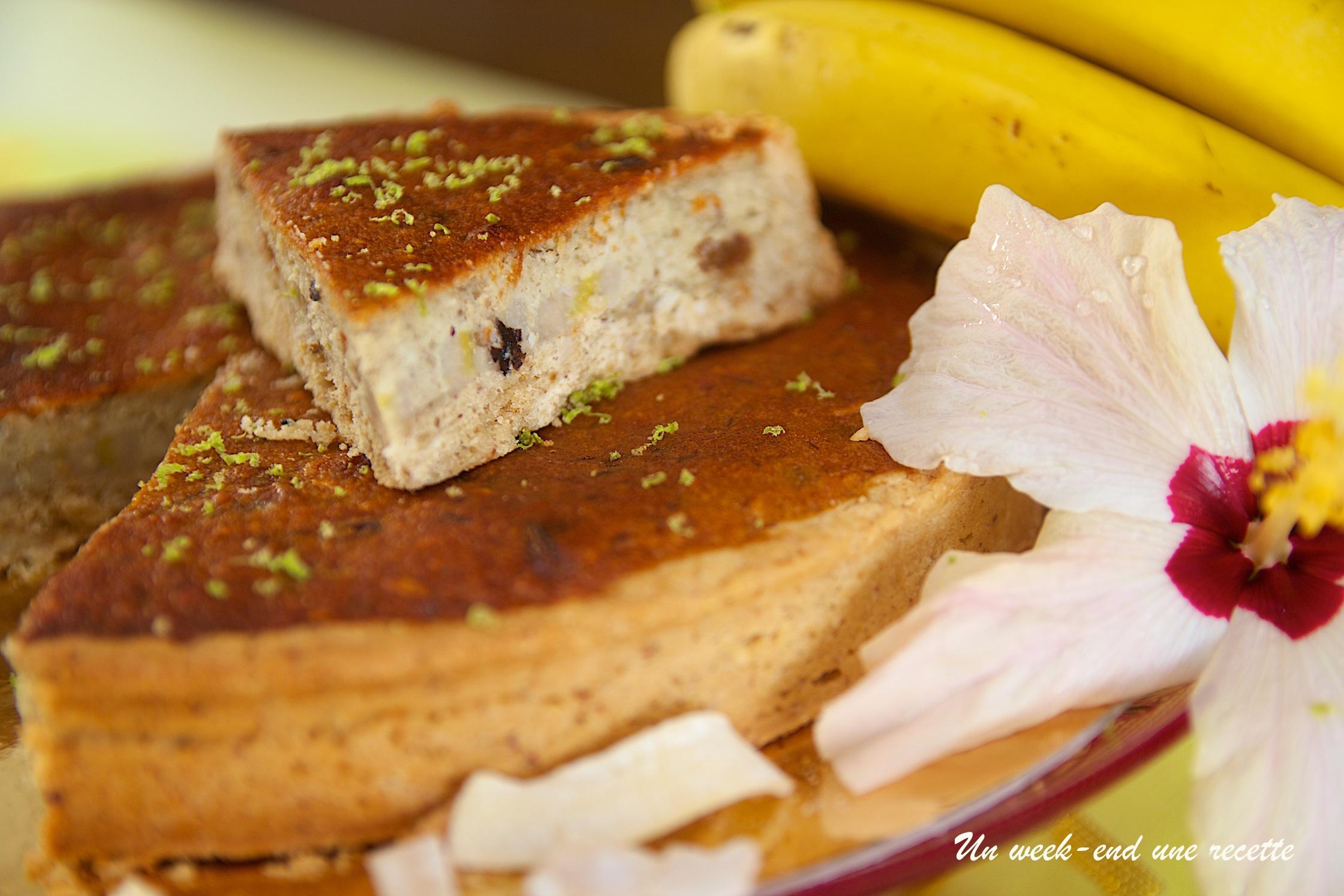 tarte amandine à la peau de banane