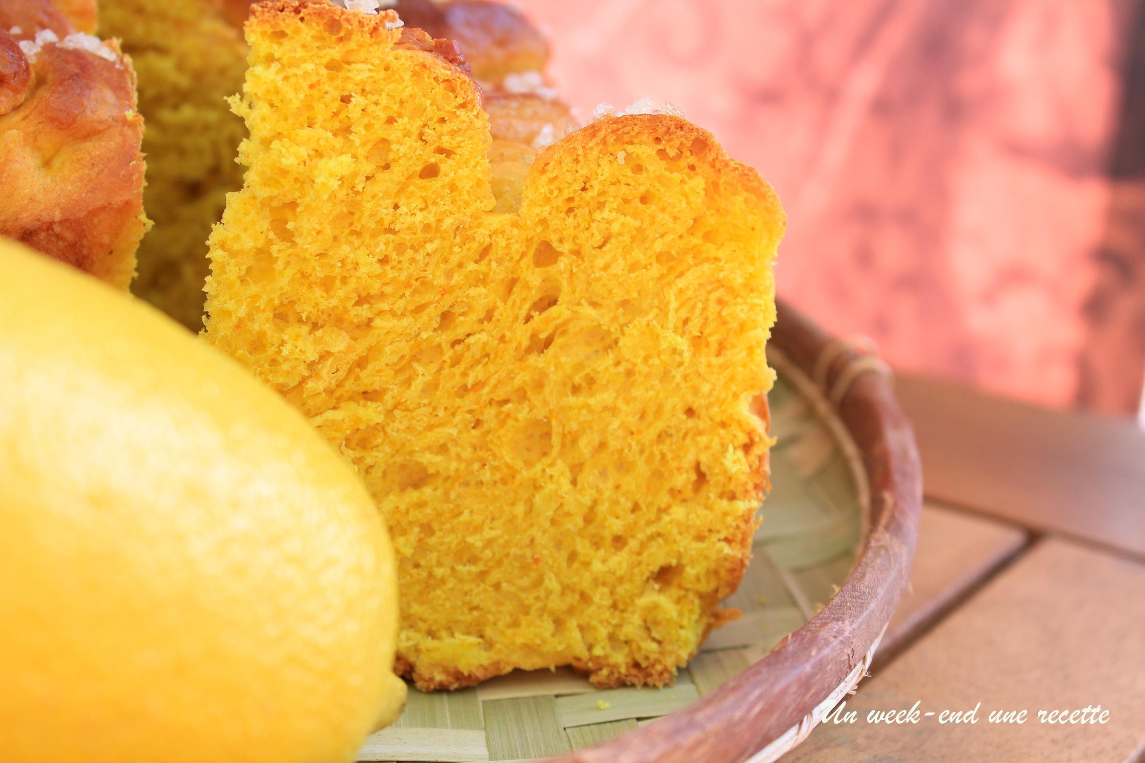 Brioche curcuma gingembre confiture de citron
