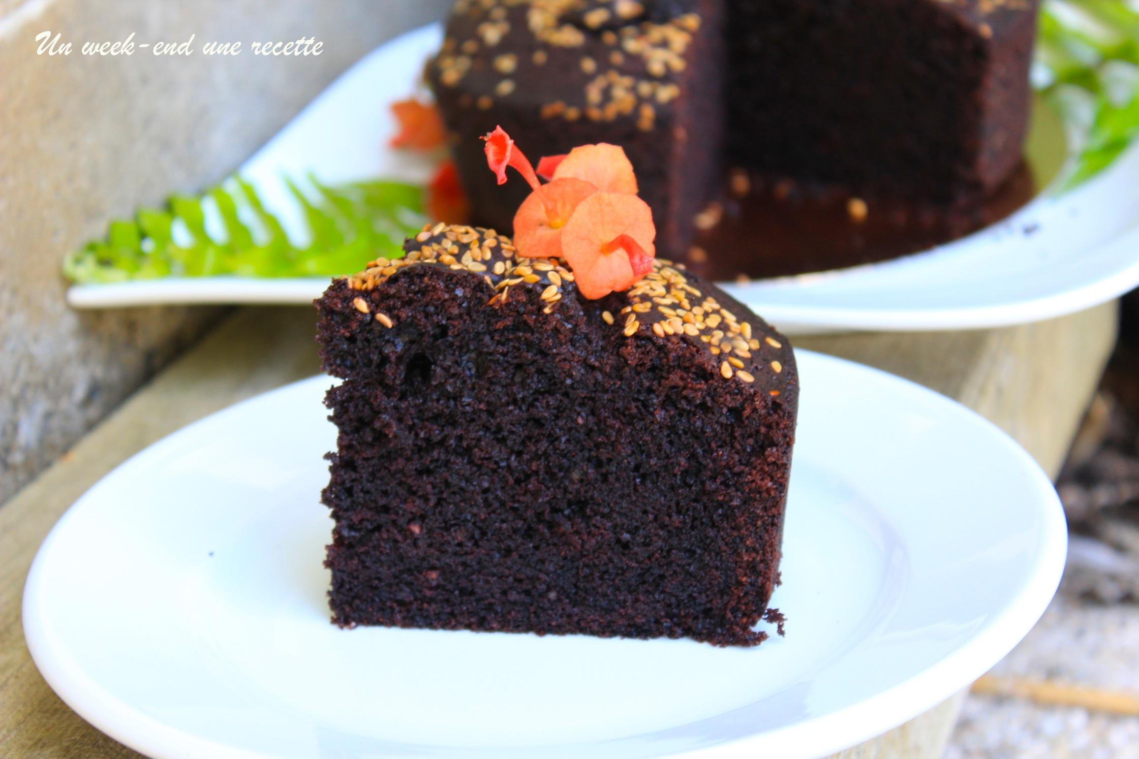 Gâteau au chocolat cacahuètes