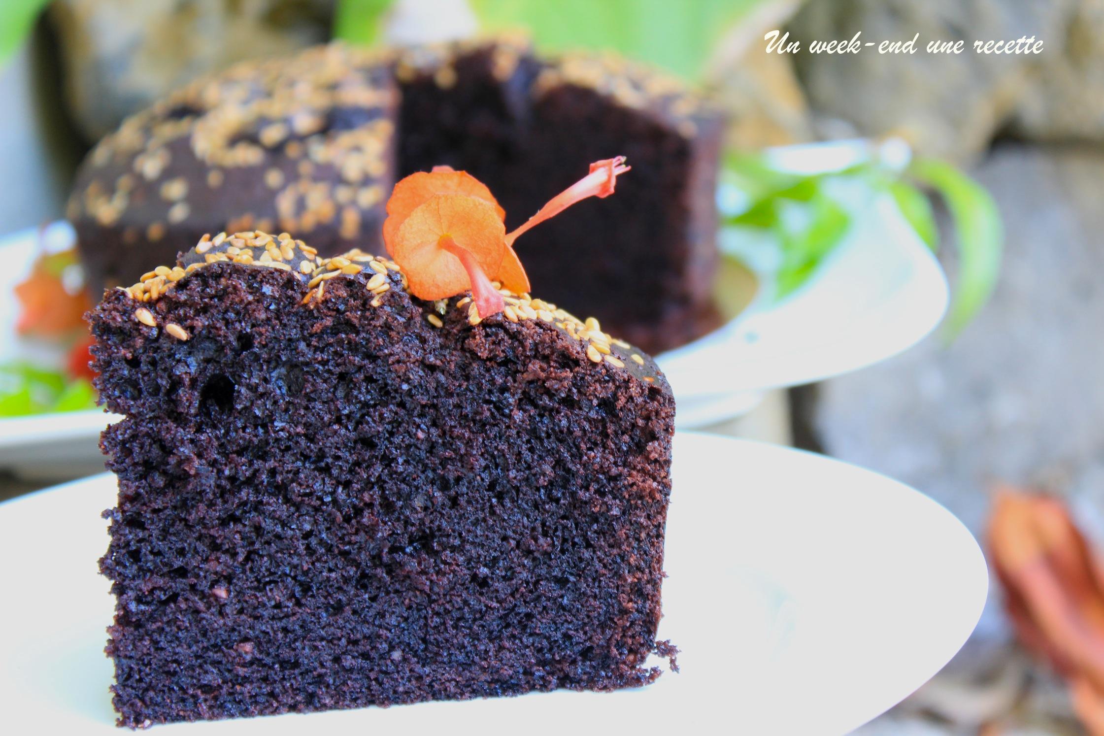 Gâteau au chocolat sésame