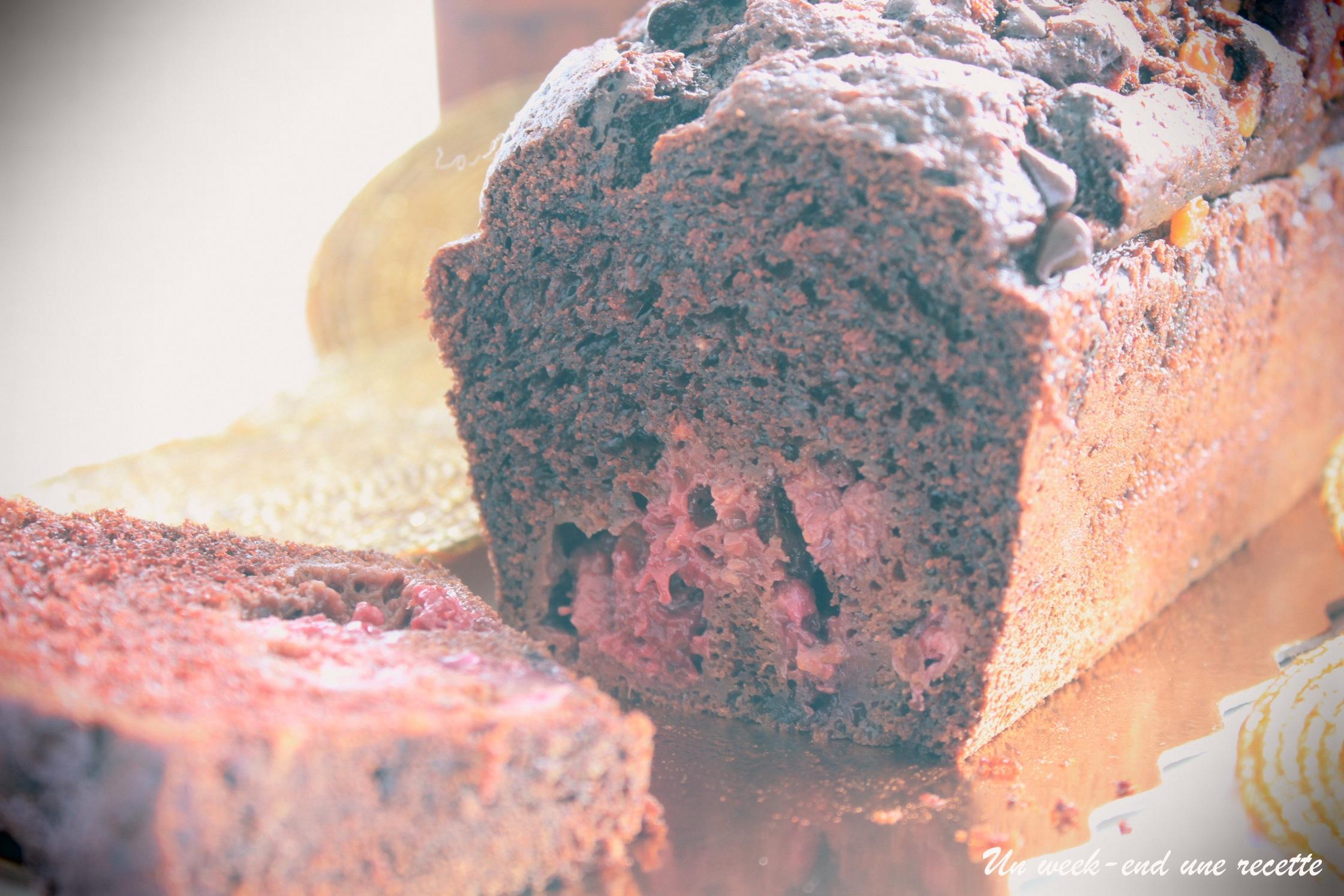 Cake chocolat fruits rouges