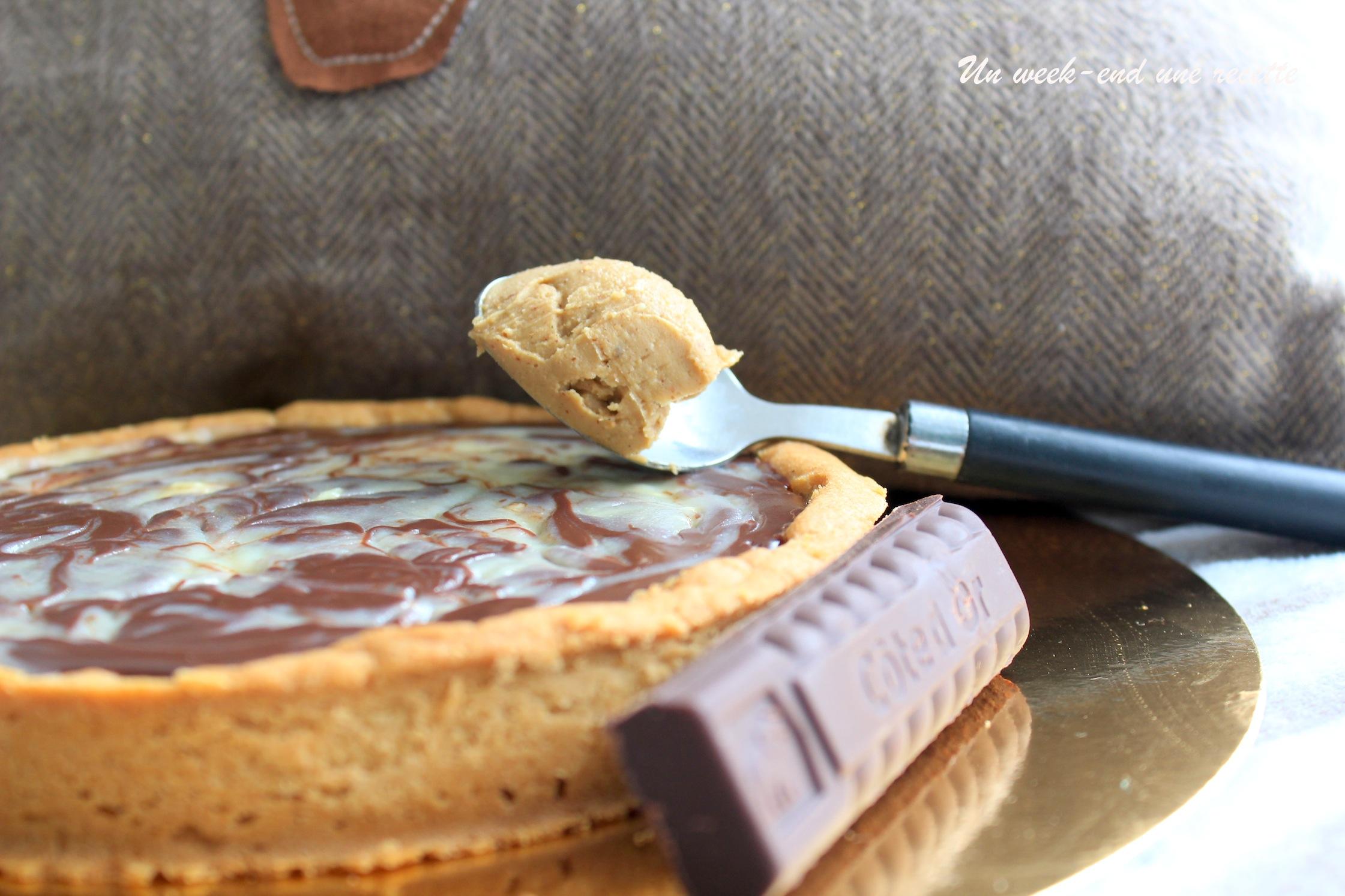 Tarte marbré aux deux chocolats