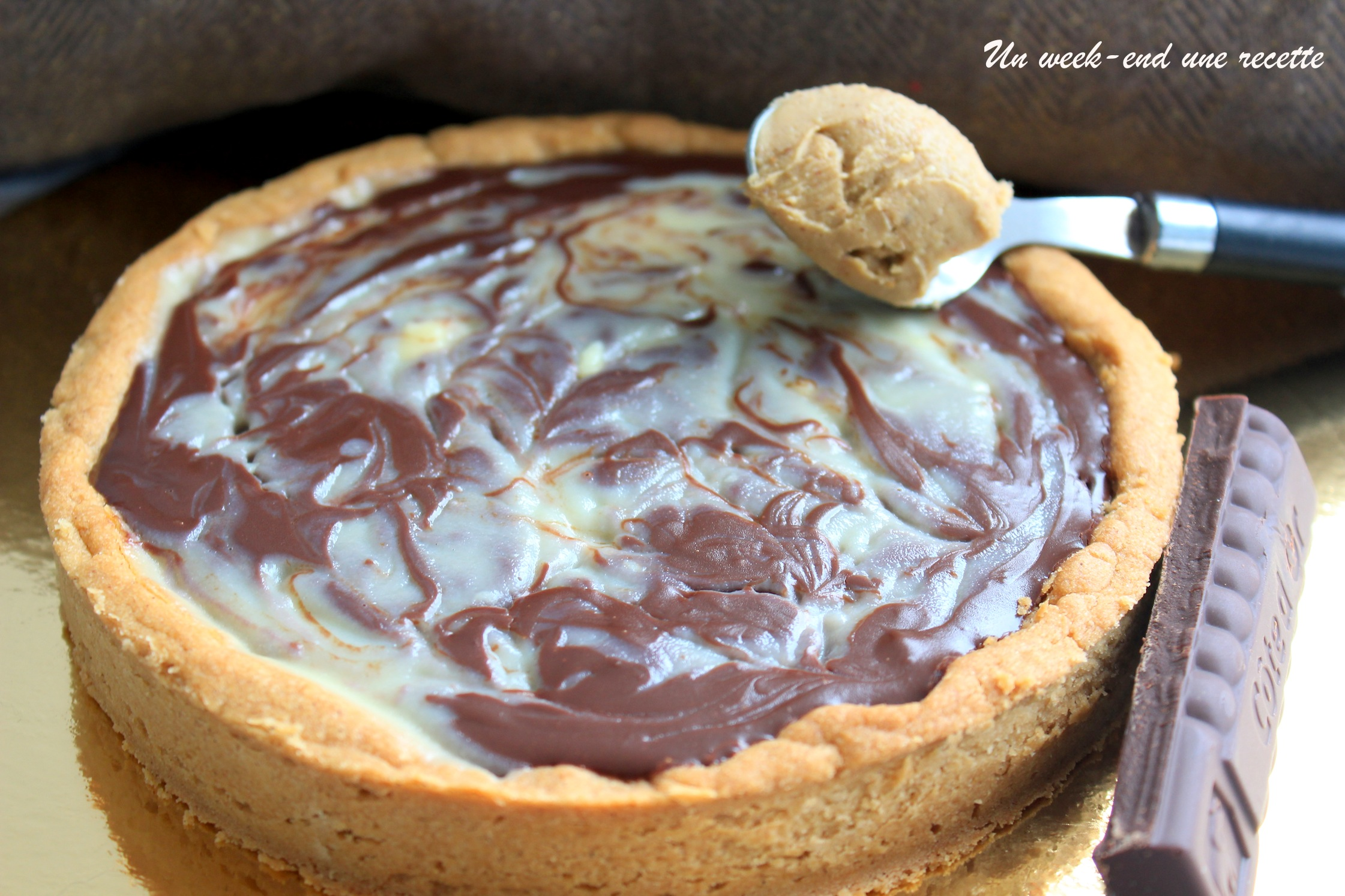 Tarte marbré Dakatine aux deux chocolats