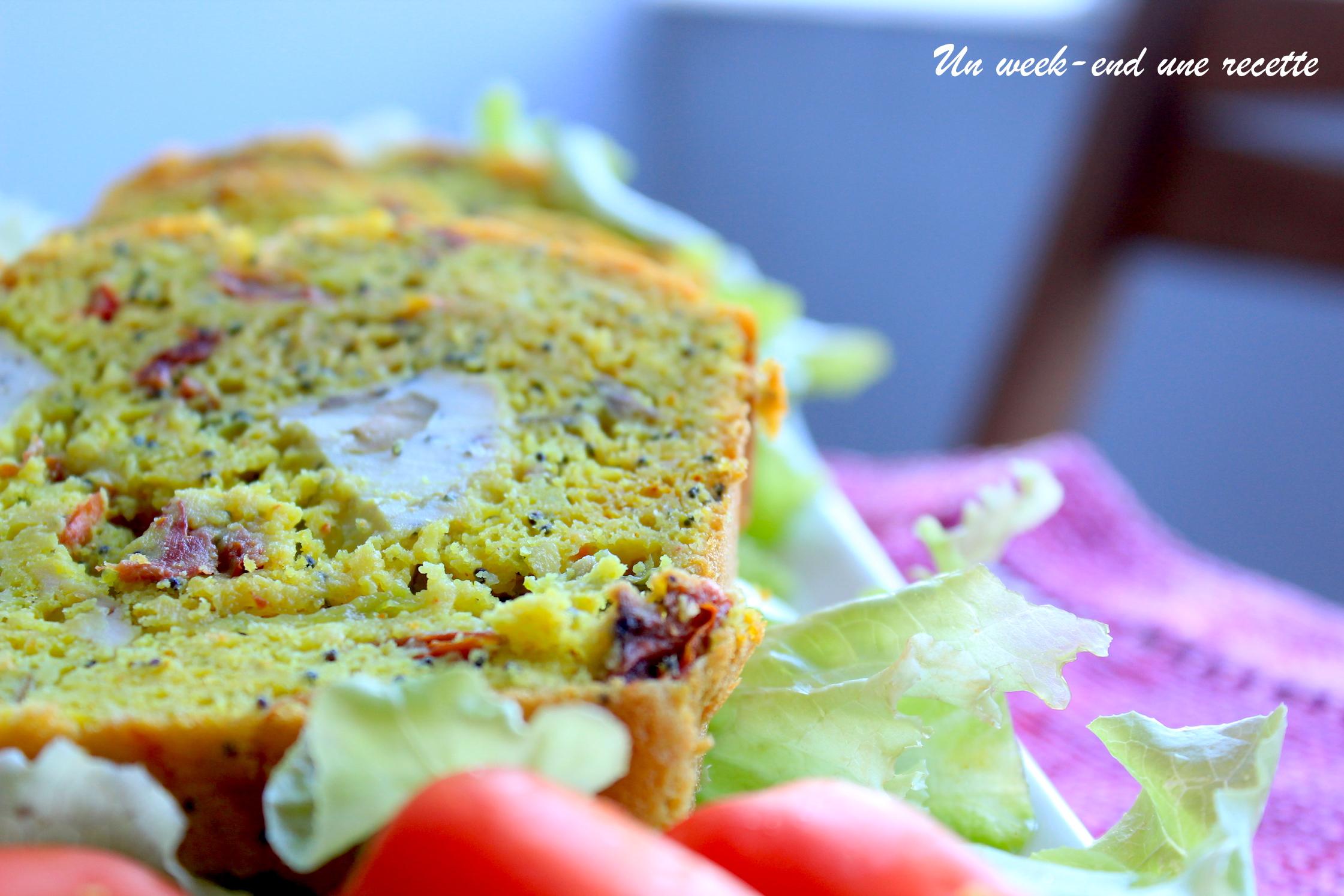 Cake tofu aux olives et curcuma