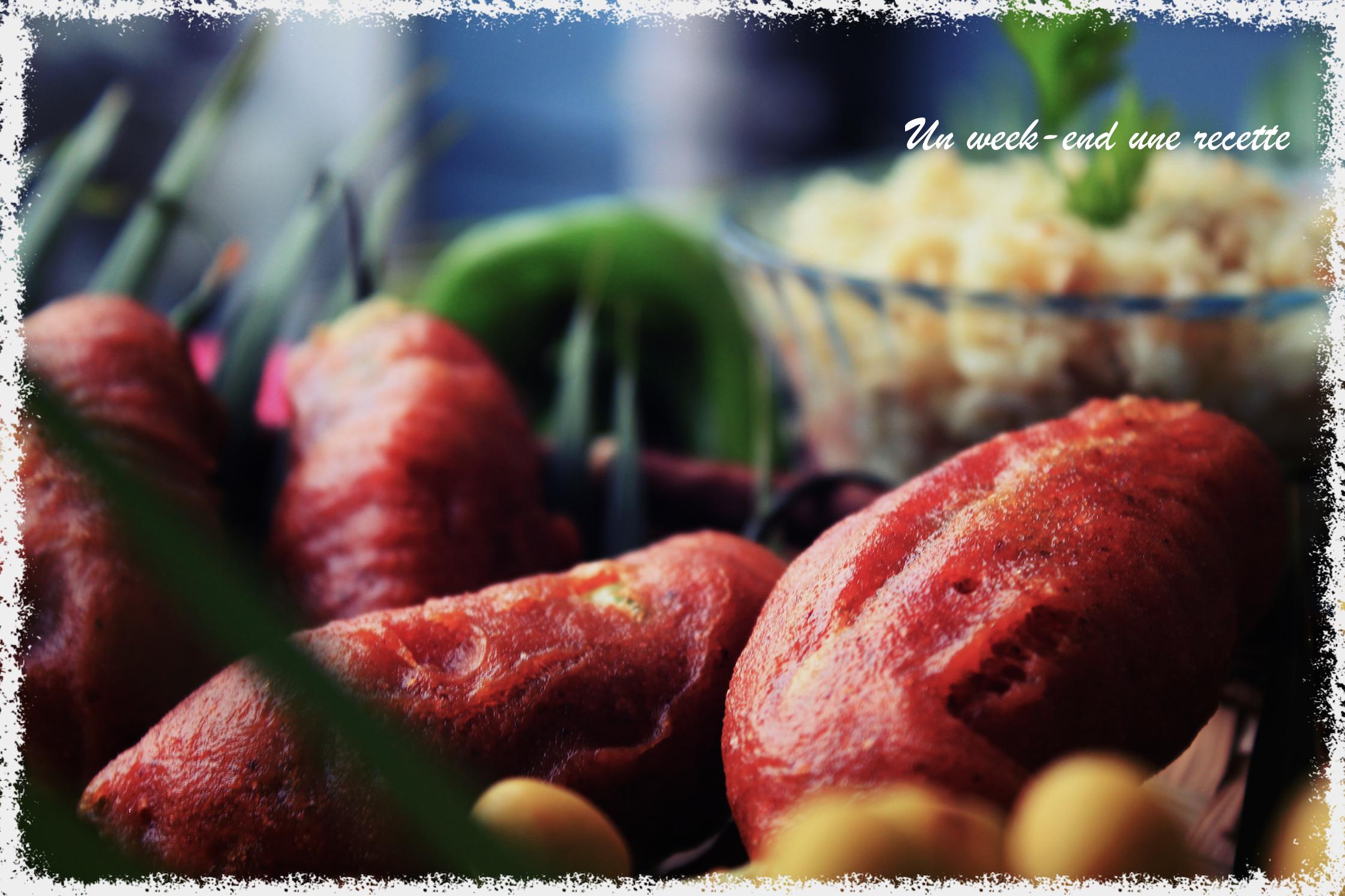 Piments farcis à la morue et chouchou
