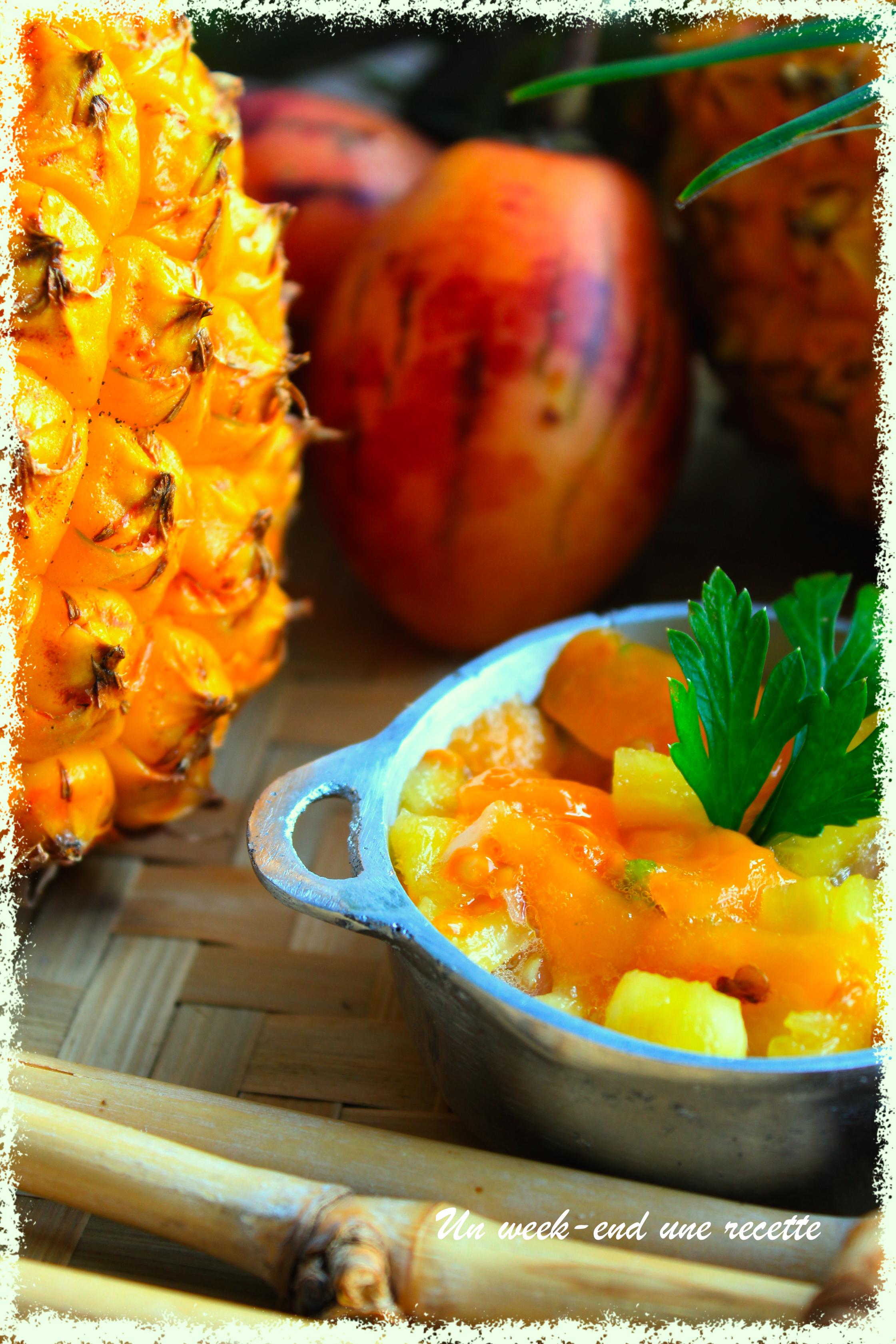 Rougail tomate arbuste et ananas