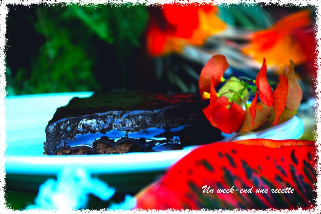 Tarte chocolat au confit d'ananas aux épices