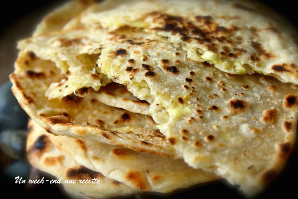 Paratha fruit à pain fromage