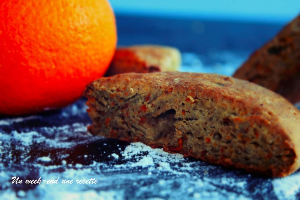 Scones à la carotte confite et zeste d'orange