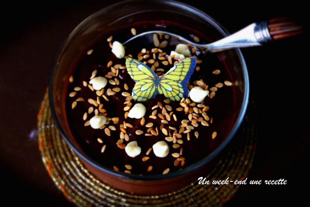 Mousse avocat banane au cacao