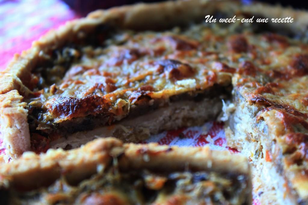 Tarte à l'aubergine et aux épices