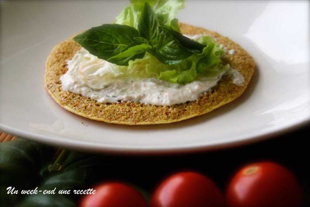 Tortillas IG bas à la crème saumonée basilic