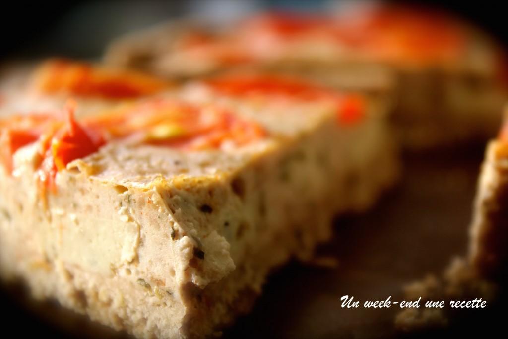 Tarte tomate et tofu aux olives