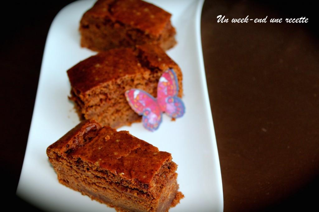 Fondant marron et chocolat au caramel
