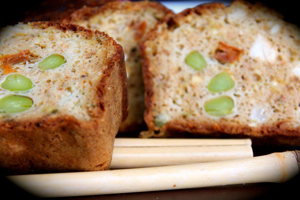 Cake au poulet et fèves