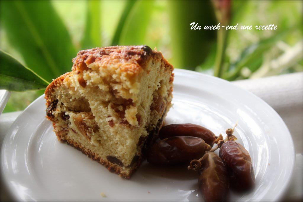 Gâteau à la figue et datte
