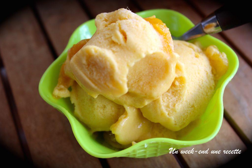 Sorbet à la mangue sans sorbetière