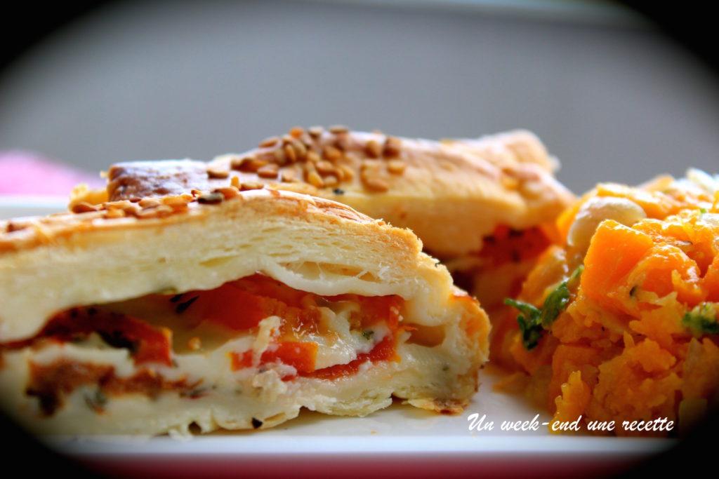 feuilletée tomate mozzarella