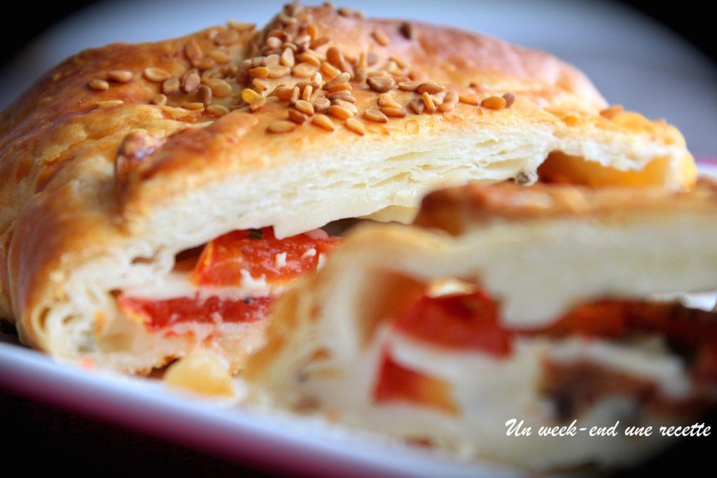 feuilleté tomate mozzarella